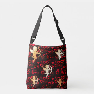 Cupids and Hearts Crossbody Bag