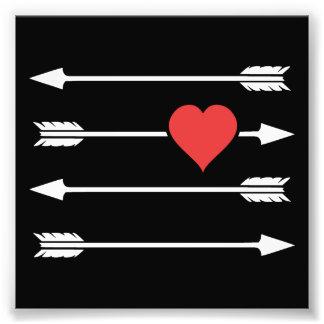 Cupid's Arrow Valentine's Day Heart Photographic Print