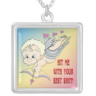 Cupid's Best Shot Valentine Necklace