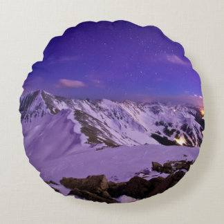 Cupid's Celestial View Round Cushion