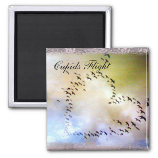 Cupid's Flight Square Magnet