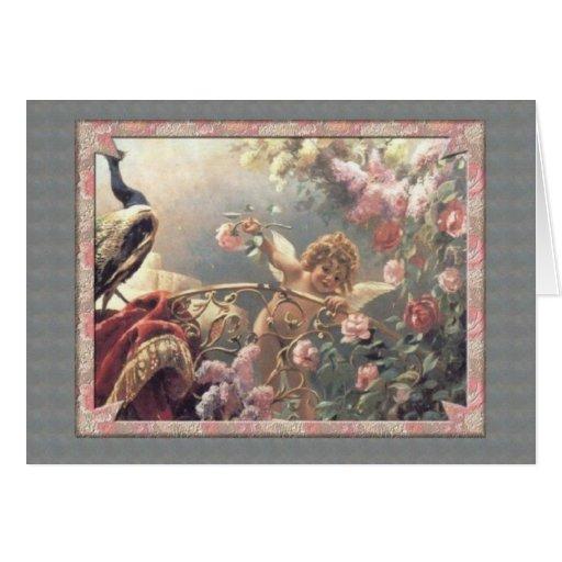 Cupid's Garden - Valentine Greeting Card
