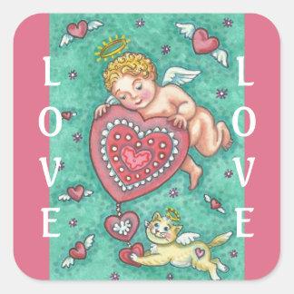CUPID'S HEART VALENTINE STICKERS Sheet