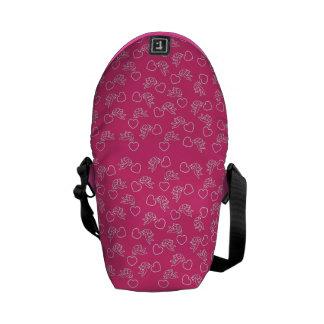 Cupids & Hearts custom color messenger bag