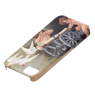cupids manning the cannon and releasing doves iPhone 5 case