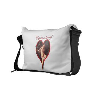 Cupid's On His Way! Messenger Bags