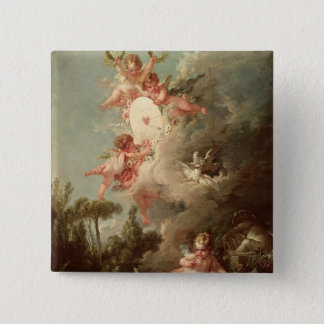 Cupid's Target, from 'Les Amours des Dieux' 15 Cm Square Badge