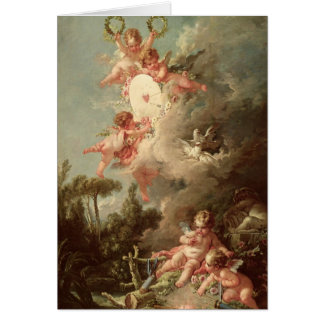 Cupid's Target, from 'Les Amours des Dieux' Card