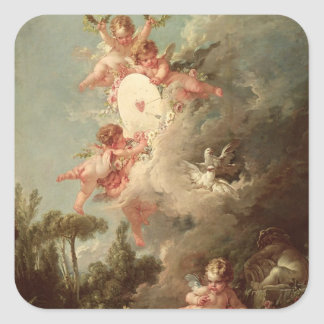 Cupid's Target, from 'Les Amours des Dieux' Square Sticker
