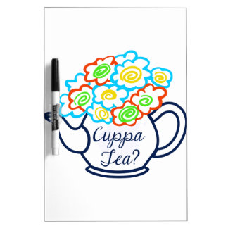 CUPPA TEA DRY ERASE WHITEBOARDS