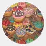 Cuppy cakes round sticker