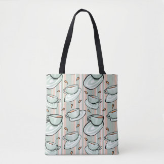 Cups Medley green All-Over-Print Tote Bag