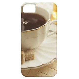 Cups of coffee and sugar. iPhone 5 covers