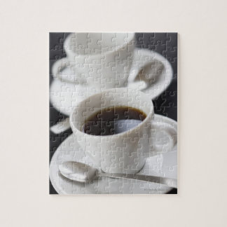 Cups of coffee with saucer jigsaw puzzle
