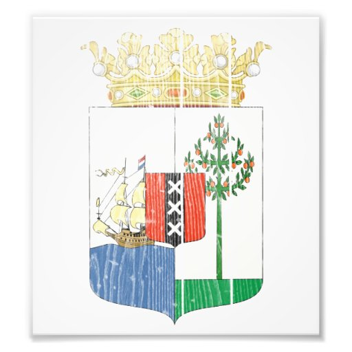 Curacao Coat Of Arms Photographic Print