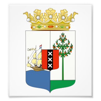Curacao Coat Of Arms Photograph