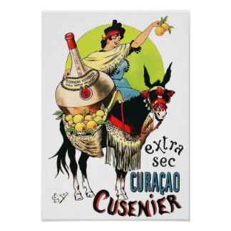 Curacao Cusenier 1899 Vintage Advertisement Print