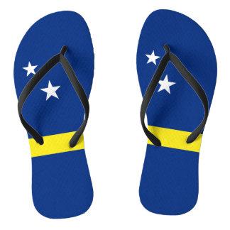 Curacao Flag Flip Flops
