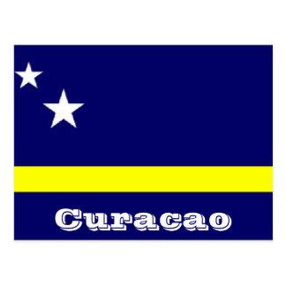Curacao flag postcard