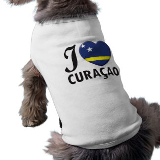 Curacao Love Sleeveless Dog Shirt