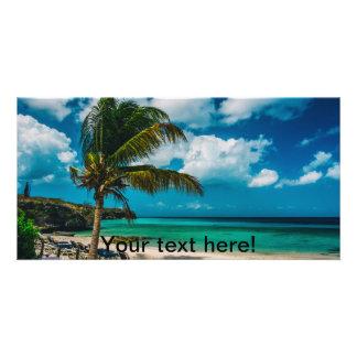 Curacao, Playa Porto Marie Customised Photo Card