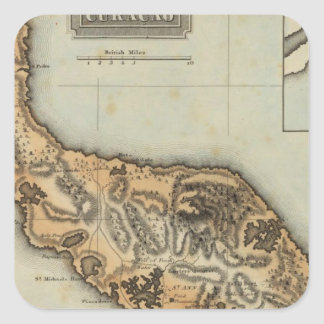 Curacao Square Sticker