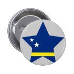 Curacao Star 6 Cm Round Badge