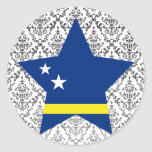 Curacao Star Round Stickers