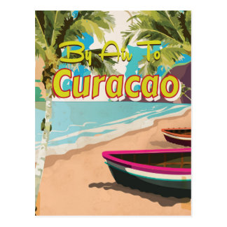Curacao Vintage Travel Poster Postcard