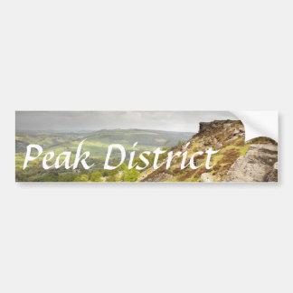 Curbar Edge in Derbyshire, the Peak District photo Bumper Sticker