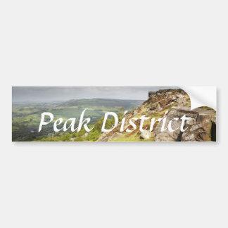 Curbar Edge in the Peak District souvenir photo Bumper Sticker