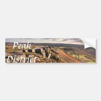 Curbar Edge on the Peak District souvenir photo Bumper Sticker