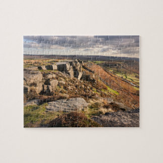 Curbar Edge on the Peak District souvenir photo Jigsaw Puzzle