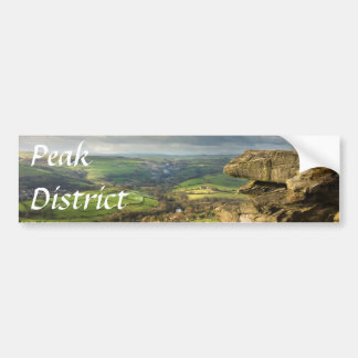 Curbar Edge view, Peak District souvenir photo Bumper Sticker
