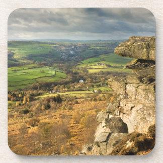 Curbar Edge view, Peak District souvenir photo Coaster