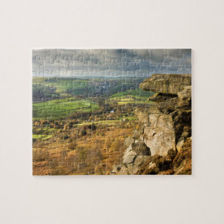 Curbar Edge view, Peak District souvenir photo Jigsaw Puzzle