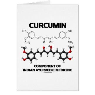 Curcumin Component Of Indian Ayurvedic Medicine Card