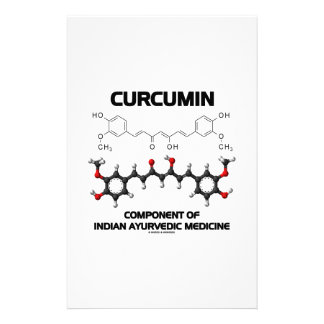 Curcumin Component Of Indian Ayurvedic Medicine Customised Stationery