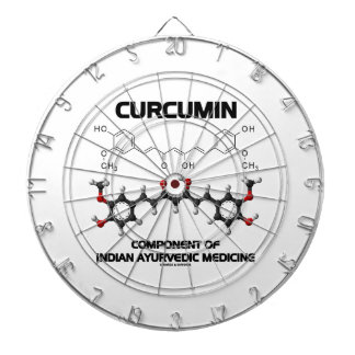 Curcumin Component Of Indian Ayurvedic Medicine Dart Board