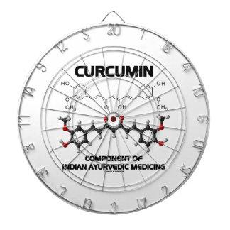 Curcumin Component Of Indian Ayurvedic Medicine Dartboard With Darts