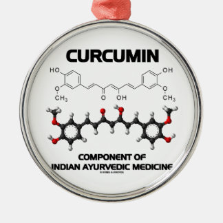 Curcumin Component Of Indian Ayurvedic Medicine Christmas Tree Ornament