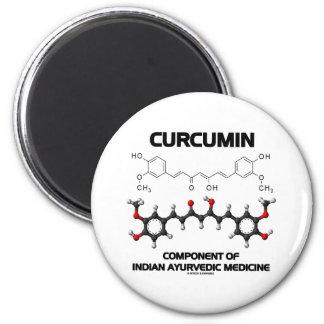Curcumin Component Of Indian Ayurvedic Medicine Fridge Magnet