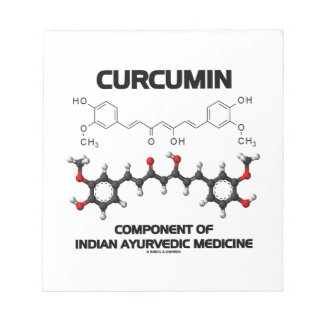 Curcumin Component Of Indian Ayurvedic Medicine Note Pads