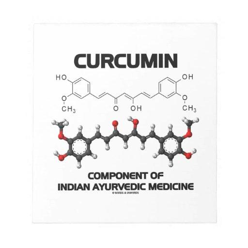 Curcumin Component Of Indian Ayurvedic Medicine Notepad
