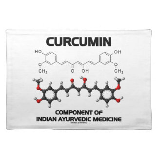 Curcumin Component Of Indian Ayurvedic Medicine Placemats