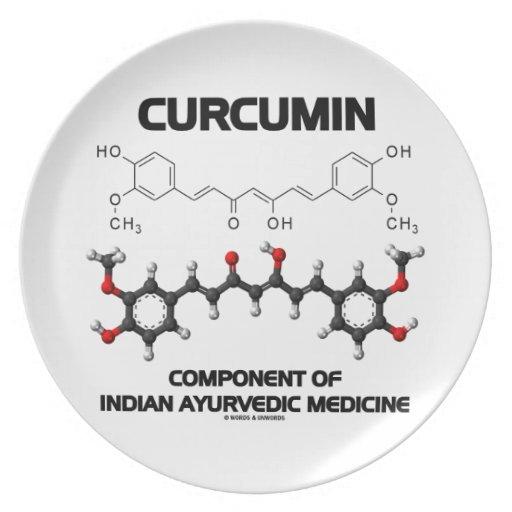 Curcumin Component Of Indian Ayurvedic Medicine Plate