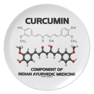 Curcumin Component Of Indian Ayurvedic Medicine Plates