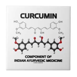 Curcumin Component Of Indian Ayurvedic Medicine Small Square Tile