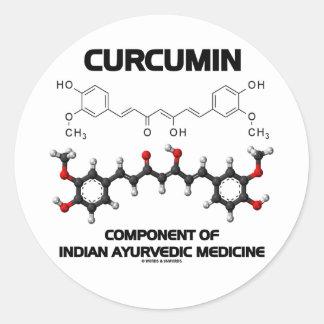 Curcumin Component Of Indian Ayurvedic Medicine Round Sticker
