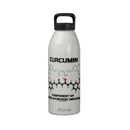 Curcumin Component Of Indian Ayurvedic Medicine Water Bottle